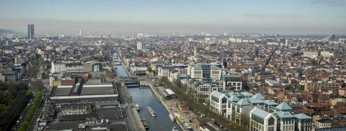 Vue du canal bruxellois © http://www.ecorem.be/